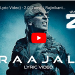 Raajali (Lyric Video) - 2.0 [Tamil]